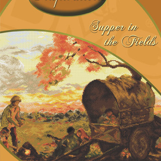 DMC INSPIRATIONS CROSS-STITCH KIT: AMORSOLO SUPPER IN THE FIELDS (ECK-037)