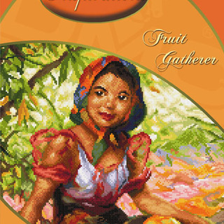 DMC INSPIRATIONS CROSS-STITCH KIT: AMORSOLO FRUIT GATHERER (ECK-038)
