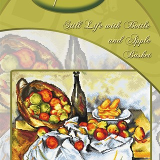 DMC INSPIRATIONS CROSS-STITCH KIT: STILL LIFE WITH BOTTLE AND APPLE BASKET (ECK-041)