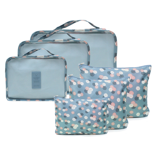 6 in 1 Packing Bags (Floral Blue)