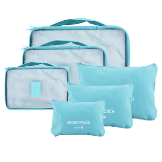 6 in 1 Packing Bags (Sky blue)