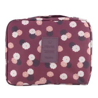 Travel Manila Toiletry Pouch Bag (Maroon/FLoral)
