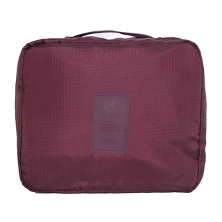 Travel Manila Toiletry Pouch Bag (Maroon)