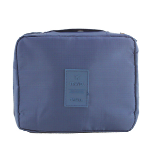 Travel Manila Toiletry Pouch Bag (Navy Blue)