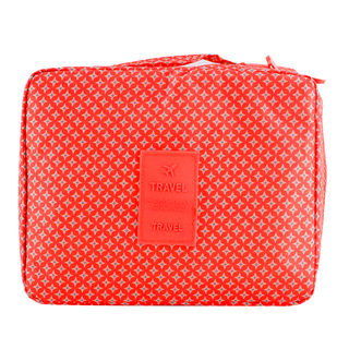 Travel Manila Toiletry Pouch Bag (Red/Star)