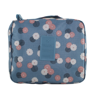 Travel Manila Toiletry Pouch Bag (Floral/Blue)
