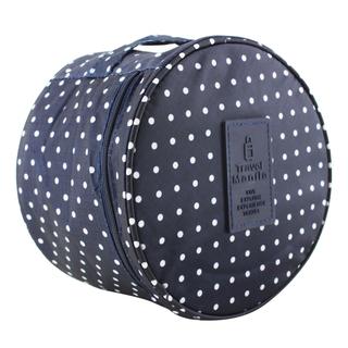 Travel Manila Bra Storage/Toiletry Bag (Polka Navy Blue)