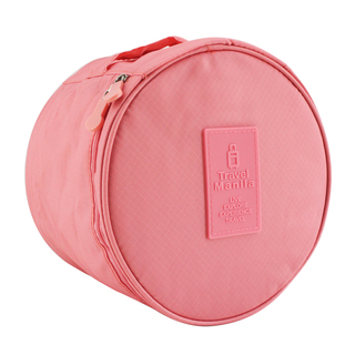 Travel Manila Bra Storage/Toiletry Bag (Salmon Pink)