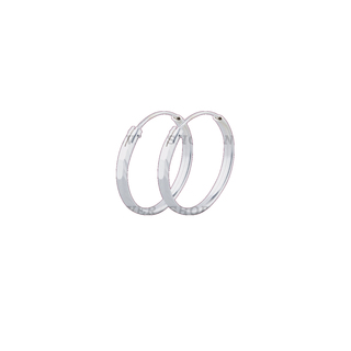 Silver First Sterling Silver 925 Loop Earrings G662