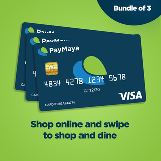 PayMaya EMV Card Bundle of 3