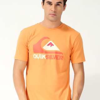 QUIKSILVER MEN'S ROUND NECK T-SHIRT ORANGE (68906)