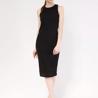 Knit Body Con Midi Dress from Topmanila Clothing (Black)