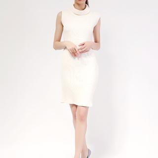 Tess Knit turleneck Sleeveless dress from Topmanila Clothing (White)
