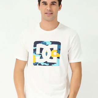 DC MENS ROUND NECK T-SHIRT OFF WHITE (70142)