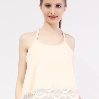 Mhy Lace String Top from Topmanila Clothing (Beige)