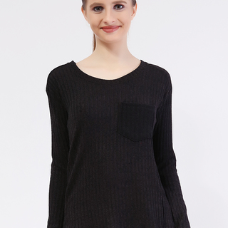 Lucky Knit Long Sleeve from Topmanila Clothing (Black)