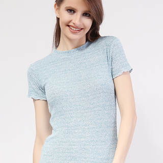 Closed Neck Short Sleeve from Topmanila Clothing ( Acid Teal)