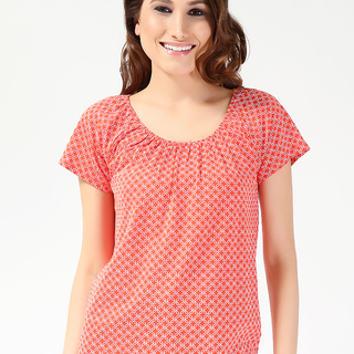 JOE FRESH LDS KNITS BLOUSE ORANGE (61259)