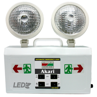 LED Rechargeable Emergency light with Exit Light ( Akari AELG-007LED)
