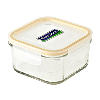 Glasslock Square Type Food Keeper 490ml - MCSB049