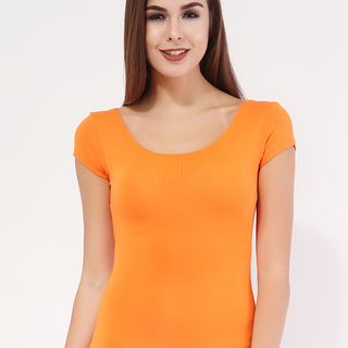 MILKY WAY ORANGE Short-Sleeved Long Back Top (ONE SIZE)