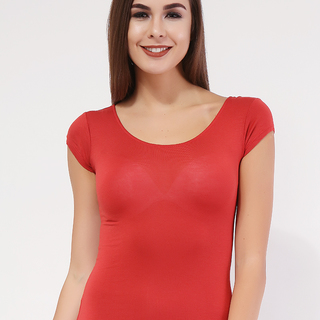 MILKY WAY red Short-sleeved  Round Neck Top (ONE SIZE)