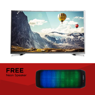 "EZY 55"" SMART CURVED 4K TV with FREE Neon Speaker (OPTION B)"