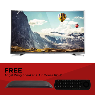 "EZY 55"" SMART CURVED 4K TV with FREE Angel Wing Speaker and Air Mouse  RC-13 (OPTION D)"
