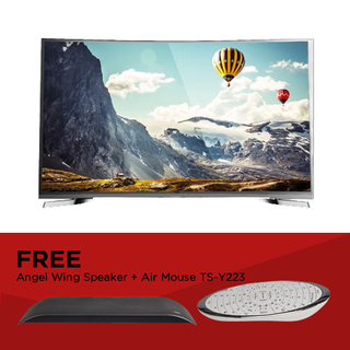 "EZY 55"" SMART CURVED 4K TV with  FREE Angel Wing Speaker and Air Mouse TS-Y223 (OPTION E)"