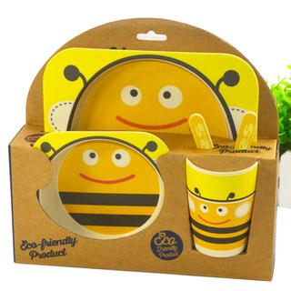 YOOKIDOO Bamboo Fibre Kid's Picnic Set Bee (PP-YOOKIDOO-PICNIC-BEE)