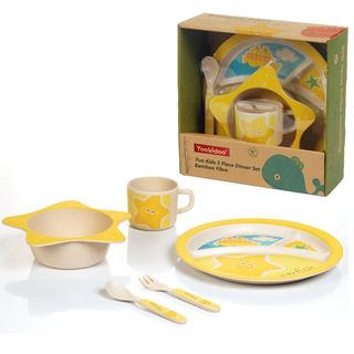 YOOKIDOO Bamboo Fibre Fun Kids 5-Piece Dinner Set Starfish (PP-YOOKIDOO-DINNER-STARFISH)