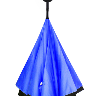 Inverted C-Handle Umbrella (Blue)