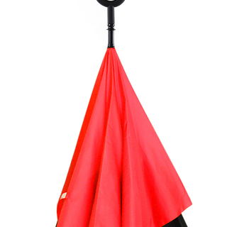 Inverted C-Handle Umbrella (Red)