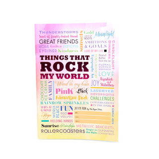 Jotter Books Things That Rock My World (JB18)
