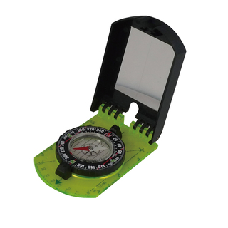 ACE CAMP FOLDING MAP COMPASS WITH MIRROR - 3109