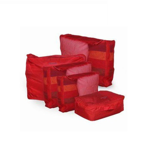 Travel Manila 5-piece Waterproof Packing Cubes (Red)