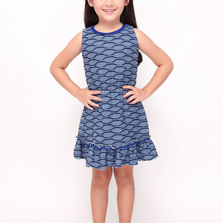 BASICS FOR KIDS GIRLS DRESS - BLUE (G905335-G905355)