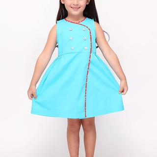BASICS FOR KIDS GIRLS DRESS - BLUE (G905245-G905265)