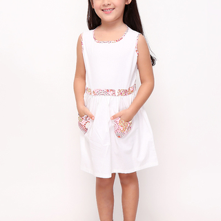BASICS FOR KIDS GIRLS DRESS - WHITE (G905270-G905290)