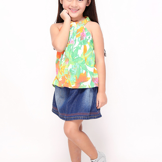 BASICS FOR KIDS GIRLS BLOUSE - GREEN (G213567-G213587)