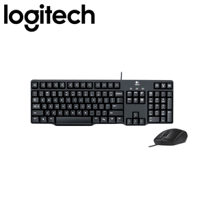 Logitech MK100 Classic Desktop Keyboard and Mouse Combo (Black)