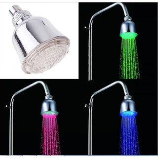 Shower Head With LED Light Temperature Detector