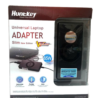 Huntkey 65W Universal Laptop Adapter Slim New Edition (Black)
