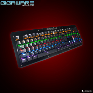 Gigaware Gaming K26 104 keys Blue Switch Mechanical Keyboard