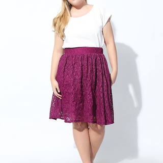 A-LINE LACE SKIRT (Mulberry)