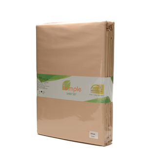 ISIMPLE SHEET SET SOLID WHEAT