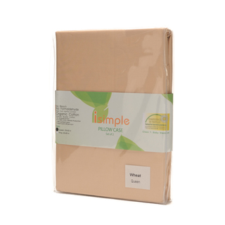 ISIMPLE PILLOW CASE WHEAT S/2