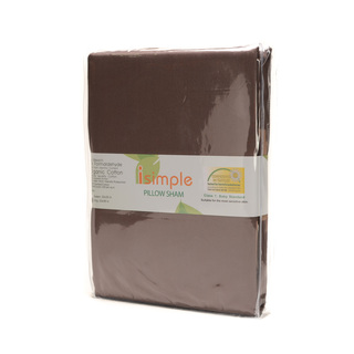 ISIMPLE PILLOW SHAM DEEP TAUPE/NOUGAT