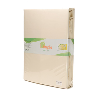 ISIMPLE SHEET SET SOLID ANTIQUE WHITE