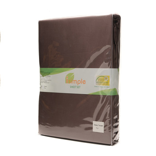 ISIMPLE SHEET SET  SOLID DEEP TAUPE